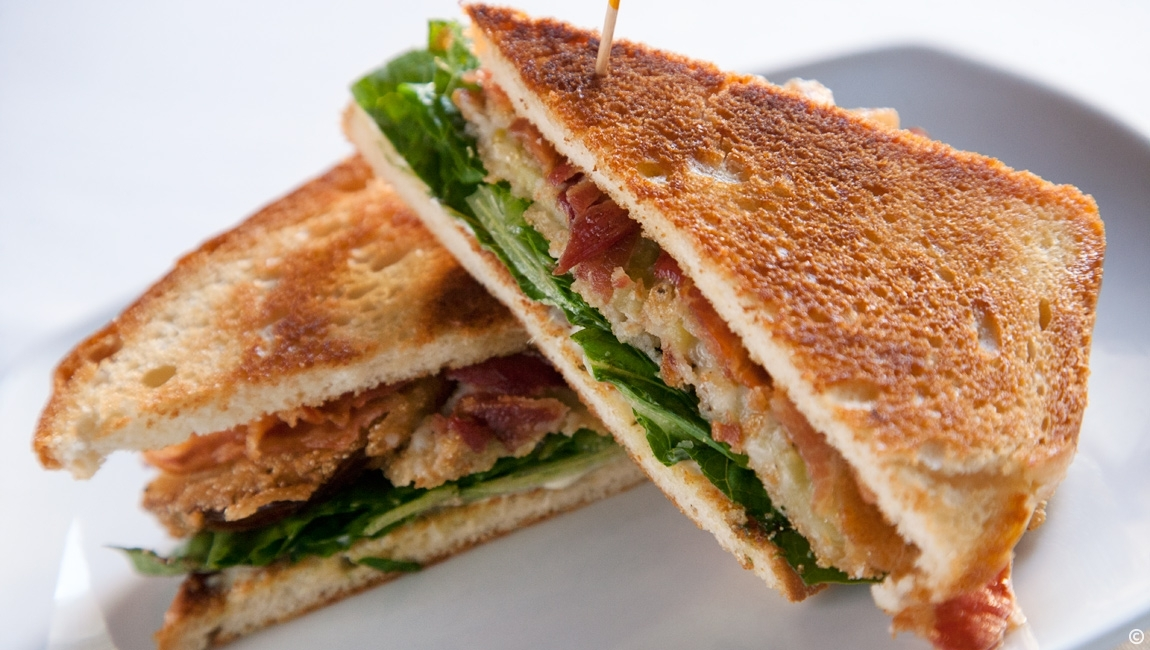 Fried Green BLT Sandwich at Santa Maria