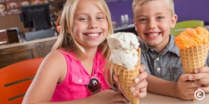 Kids enjoying ice cream at Caravelle Resort