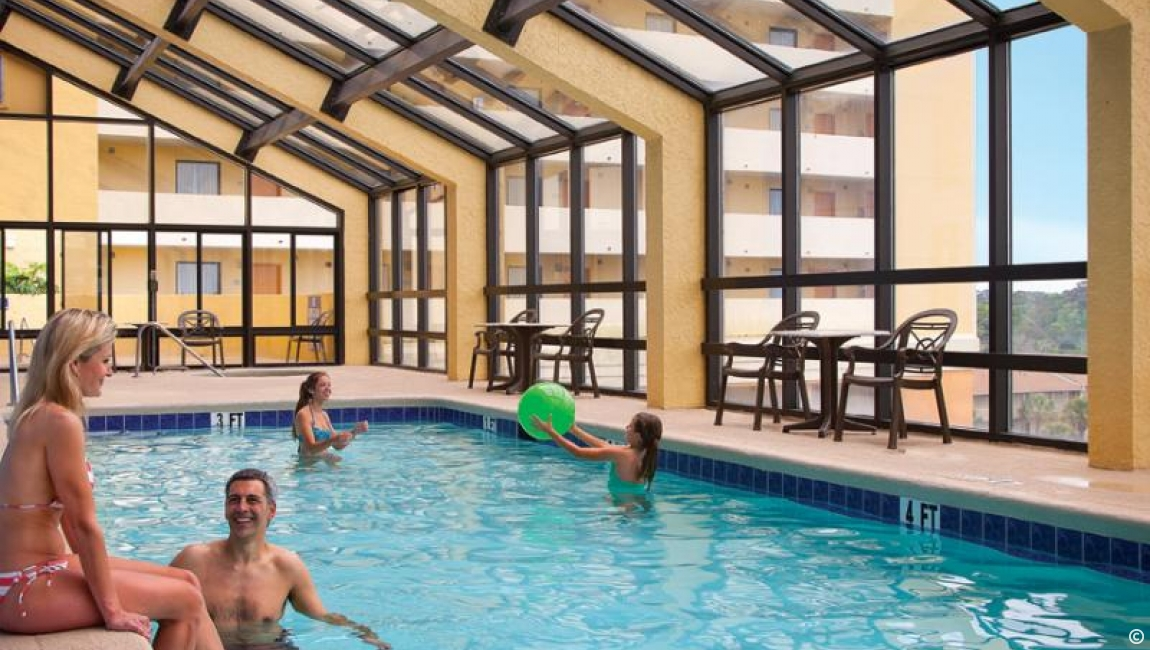 Indoor pool at Caravelle Resort