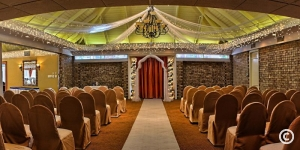 Wedding ceremony space at St. John's Inn