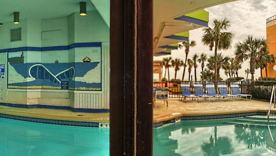 Indoor/Outdoor pool in Myrtle Beach resort