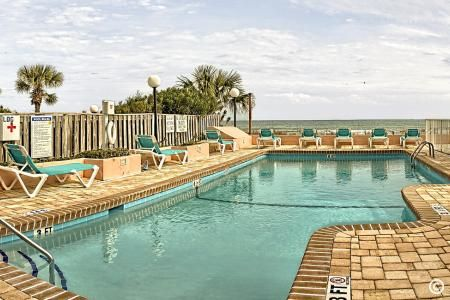 Oceanfront pool at St. Clement's