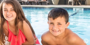 Kids swimming at The Caravelle Resort