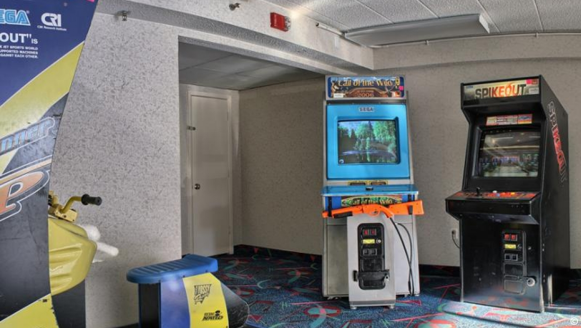 Fun game room at The Caravelle Resort