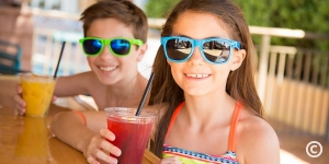 Kids enjoying non-alcoholic drinks at Marco Polo