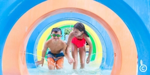 Children having fun in the Wild Water Pool