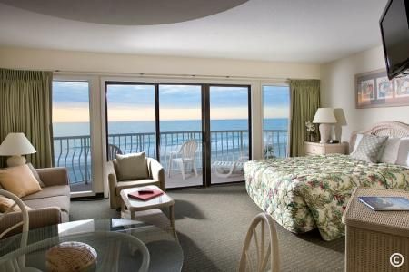 Oceanfront Living Room in St. Clement's Suite