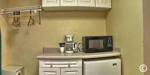 Microwave and Mini Fridge in St. John's Room