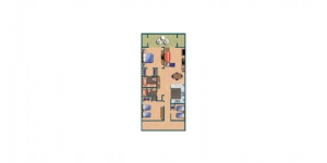 Room Diagram for Sea Mark Tower Three Bedroom Two Bath Condo