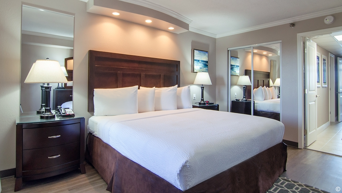 King Bed in Terrace View Executive Suite