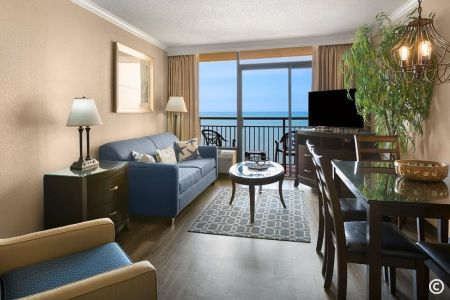 Oceanfront Executive Suite Living Room