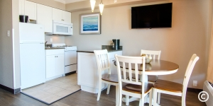 Kitchen Area in an Ocean View Suite
