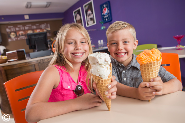 Pirate's Cove Ice Cream and Sandwich Shop is a great place to stop by during the summer for a cold treat!
