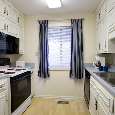 The Arbor units feature a full kitchen with a dishwasher and washer and dryer.