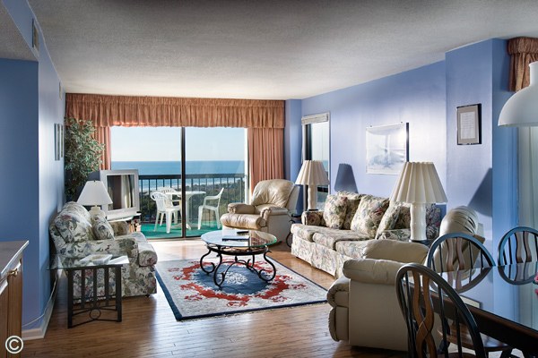 Sea Mark Tower offers both 3 bedroom, 3 bath and 3 bedroom, 2 bath units.