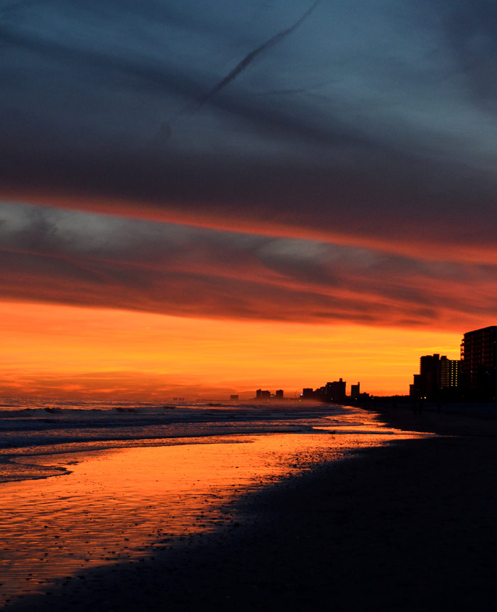 Sunset at The Caravelle Resort in Myrtle Beach, SC
