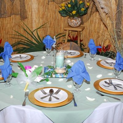There are a variety of decorative themes that we can accomplish for a fantastic value, ranging from traditional, holiday, luau-style, beach themed, and many more.